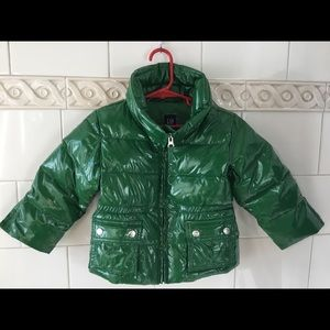 Toddler Boy Baby Gap Green Puffer Coat 3 Years